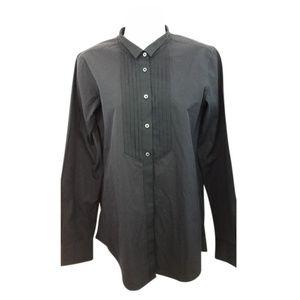J.Crew +j Buttoned Tuxedo Blouse S Button-down